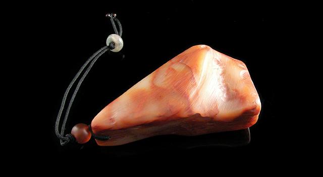 紅花芙蓉石素體自然形手摸