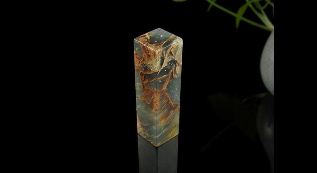 雲南-孔雀綠-素體正方章