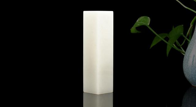(樣品)壽山石山頂白芙蓉-素體六平正方章