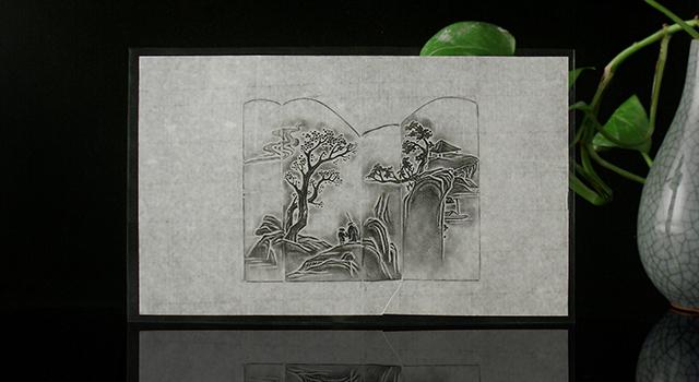 壽山汶洋晶-薄意山間訪賢日形章