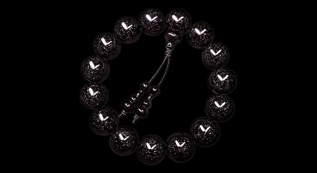(已讓)小葉紫檀-黑珍珠爆滿金星手串