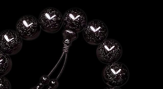 小葉紫檀-黑珍珠爆满金星手串