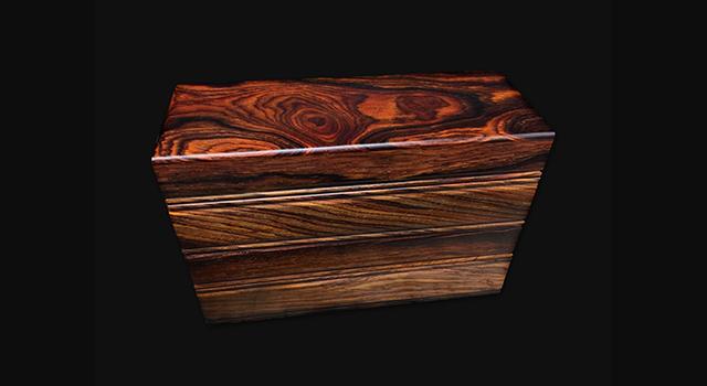 海黃油花梨-爆滿水波紋文對盒