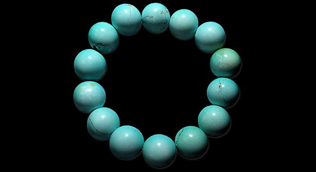 (已讓)綠松石-竹山原礦高瓷藍手串珠