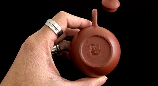 紫砂壺大紅袍-小品手工全美品小龍蛋