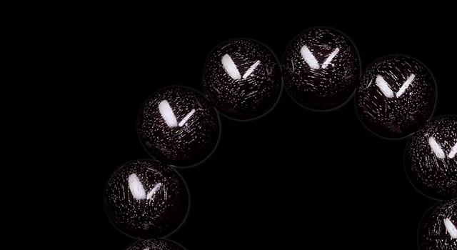 小葉紫檀-老料黑珍珠手串