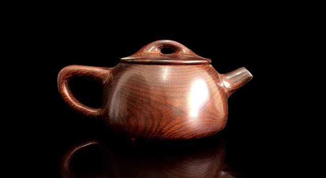 (意者私)海黃老油花梨-素身石瓢壺