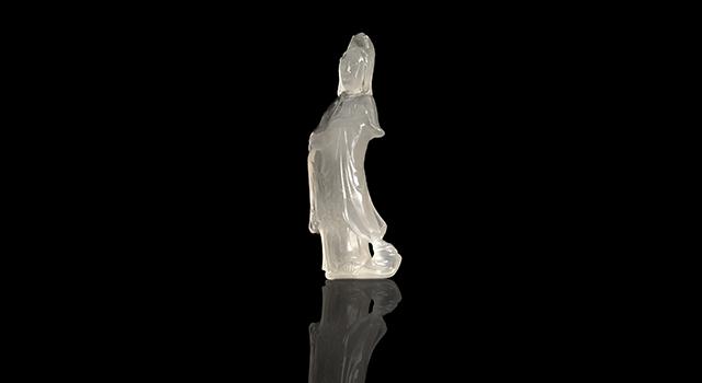 壽山石坑頭晶-如意觀音擺件