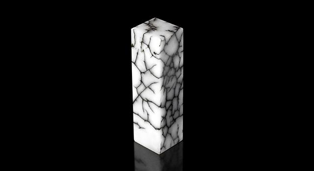 浙江青田石-煨冰纹素體六平章