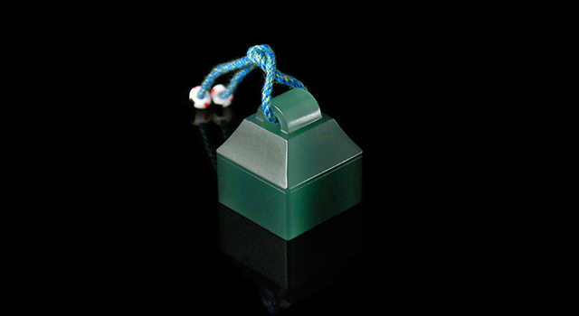 (已讓)西安綠-瓦鈕正方章