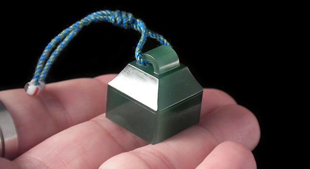西安綠-瓦鈕正方章