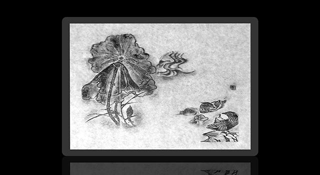 壽山月尾绿-薄意荷塘駌鴦正方章