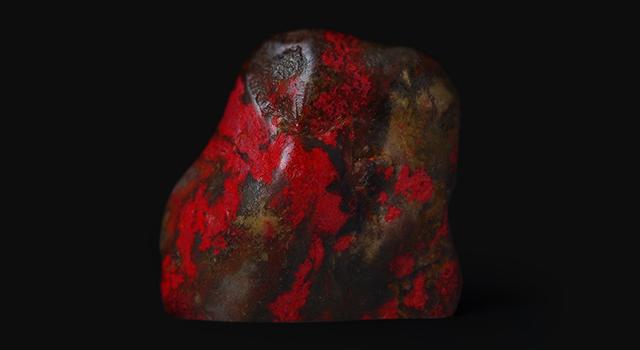 (8月14號盂蘭節免費送)昌化雞血石-軟底黑田原石胎