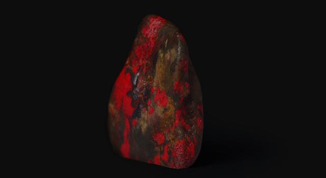 昌化雞血石-軟底黑田原石胎