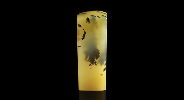雲南黃金耀-素體水草凍長方章