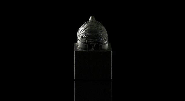 黑楚石-龜鈕正方章