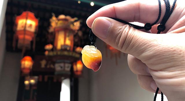 壽山巧色高山水洞-福壽年年掛墜