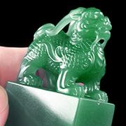 壽山石學-雅安綠的石種-外觀特徵